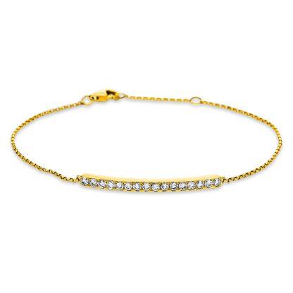 18 kt sárga arany karkötő 16 gyémánttal 5C004G8-1