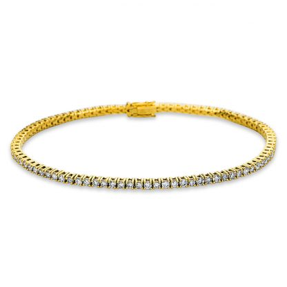 18 kt sárga arany karkötő 87 gyémánttal 5C003G8-1