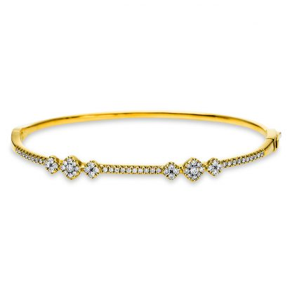 18 kt sárga arany karperec 64 gyémánttal 6A579G8-1