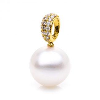 18 kt sárga arany medál 21 gyémánttal
