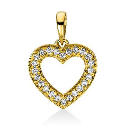 18 kt sárga arany medál 24 gyémánttal 3D813G8-1