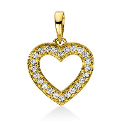 18 kt sárga arany medál 24 gyémánttal 3D813G8-2