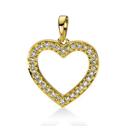 18 kt sárga arany medál 32 gyémánttal 3D814G8-2
