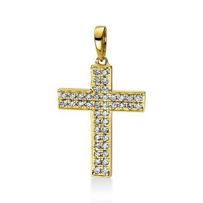 18 kt sárga arany medál 42 gyémánttal 3D768G8-1