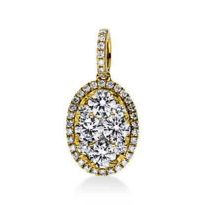 18 kt sárga arany medál 47 gyémánttal 3D930G8-1