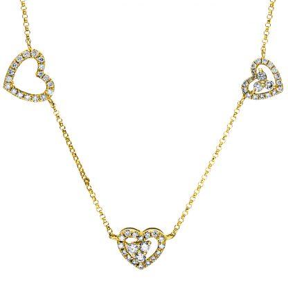 18 kt sárga arany nyaklánc 143 gyémánttal 4F434G8-1