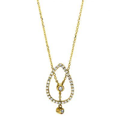 18 kt sárga arany nyaklánc 34 gyémánttal 4F495G8-1