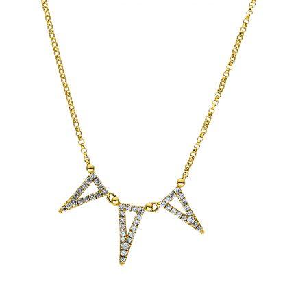 18 kt sárga arany nyaklánc 47 gyémánttal 4F437G8-1
