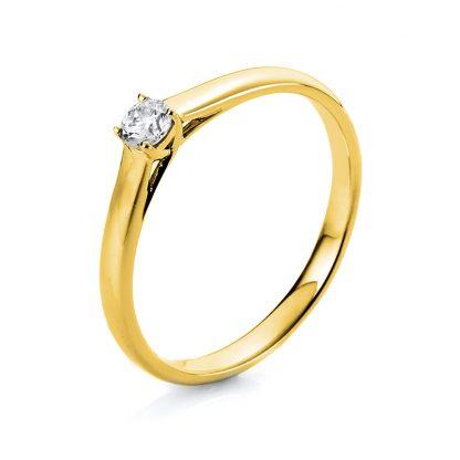 18 kt sárga arany szoliter 1 gyémánttal 1C474G851-1