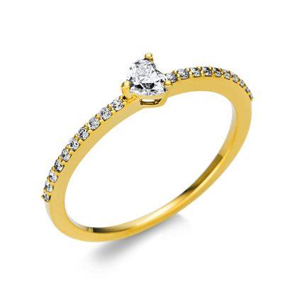 18 kt sárga arany szoliter oldalkövekkel 21 gyémánttal 1U611G854-5