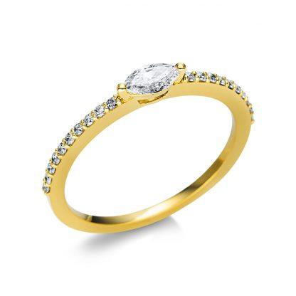 18 kt sárga arany szoliter oldalkövekkel 21 gyémánttal 1U614G854-3