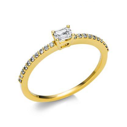 18 kt sárga arany szoliter oldalkövekkel 21 gyémánttal 1U619G854-5