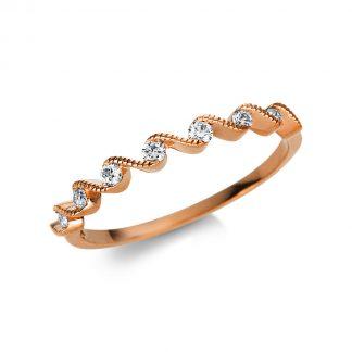 18 kt vörös arany félig köves eternity 7 gyémánttal 1U466R854-2