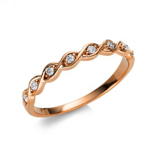 18 kt vörös arany félig köves eternity 8 gyémánttal 1U505R854-3
