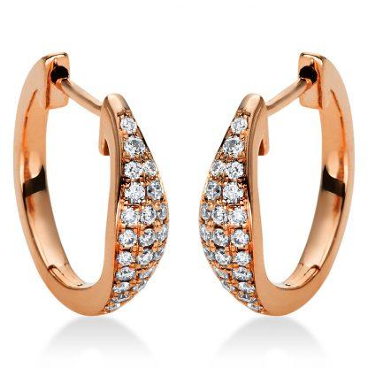 18 kt vörös arany karika és huggie 42 gyémánttal 2I973R8-1