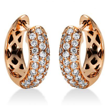 18 kt vörös arany karika és huggie 56 gyémánttal 2I971R8-1