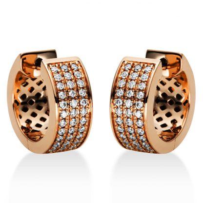 18 kt vörös arany karika és huggie 72 gyémánttal 2I967R8-1