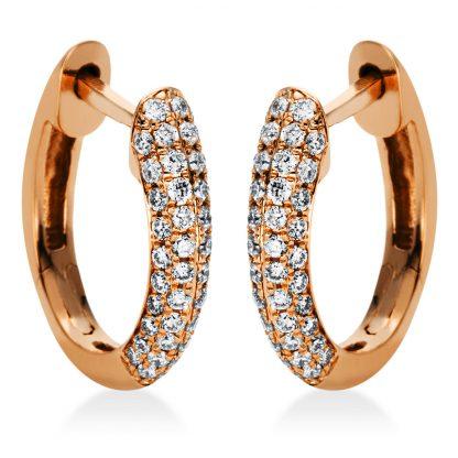 18 kt vörös arany karika és huggie 88 gyémánttal 2I981R8-1