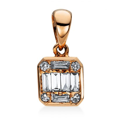 18 kt vörös arany medál 10 gyémánttal 3D784R8-1