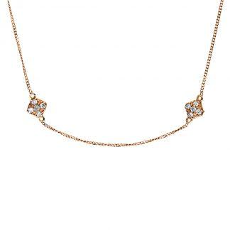 18 kt vörös arany nyaklánc 70 gyémánttal 4F538R8-1