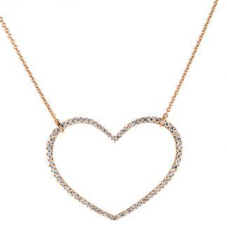 18 kt vörös arany nyaklánc 74 gyémánttal 4A569R8-1
