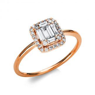 18 kt vörös arany szoliter oldalkövekkel 34 gyémánttal 1U559R854-1