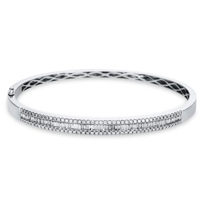 18 kt white gold bangle with 142 diamonds 6A525W8-2