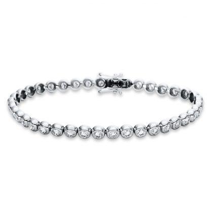 18 kt white gold bracelet with 39 diamonds 5B772W8-2