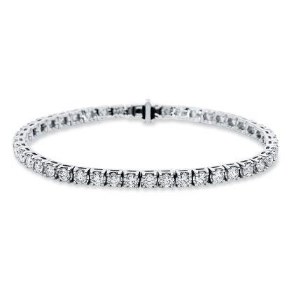 18 kt white gold bracelet with 45 diamonds 5C022W8-1