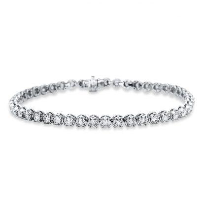 18 kt white gold bracelet with 45 diamonds 5C023W8-1