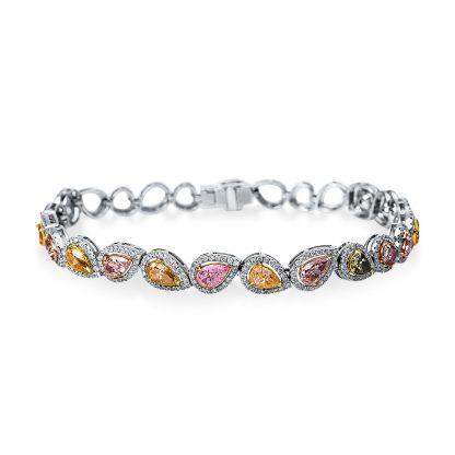 18 kt white gold bracelet with 488 diamonds 5B454W8-1