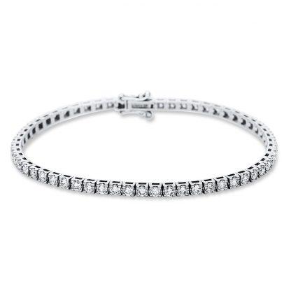 18 kt white gold bracelet with 58 diamonds 5B986W8-4