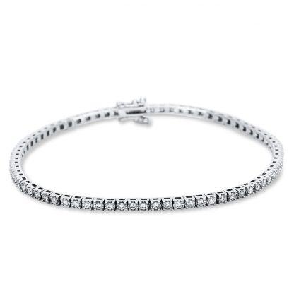 18 kt white gold bracelet with 73 diamonds 5B989W8-4