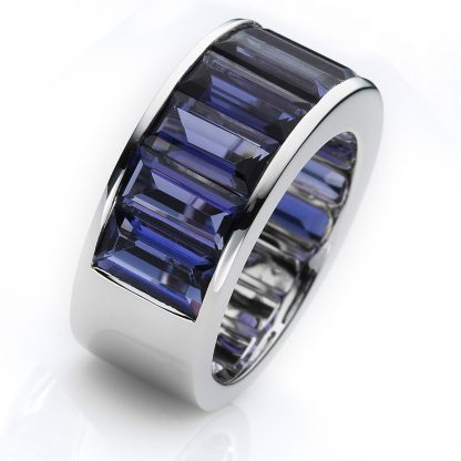18 kt white gold color stone with 10 color stones 1C413W854-1