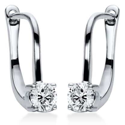 18 kt white gold earrings with 2 diamonds 2I876W8-1