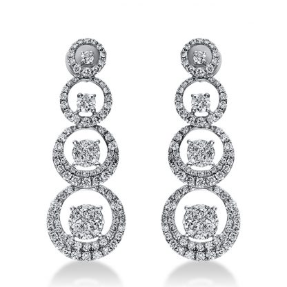 18 kt white gold earrings with 218 diamonds 2I277W8-1