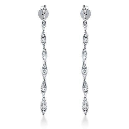 18 kt white gold earrings with 42 diamonds 2J003W8-1