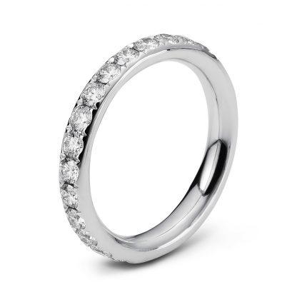 18 kt white gold eternity full with 28 diamonds 1C360W854-2