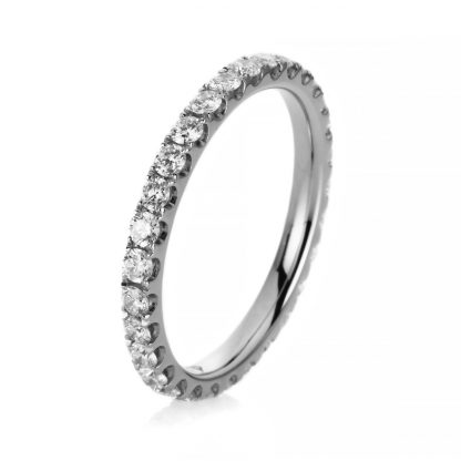 18 kt white gold eternity full with 29 diamonds 1A912W852-8