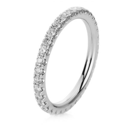 18 kt white gold eternity full with 32 diamonds 1A586W854-3