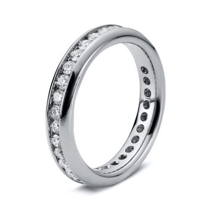 18 kt white gold eternity full with 32 diamonds 1B874W852-1