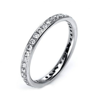 18 kt white gold eternity full with 38 diamonds 1F078W853-1