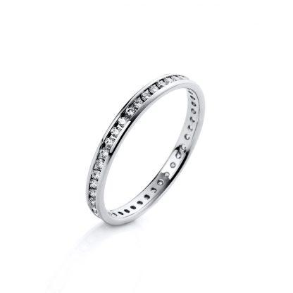 18 kt white gold eternity full with 45 diamonds 1C255W856-3
