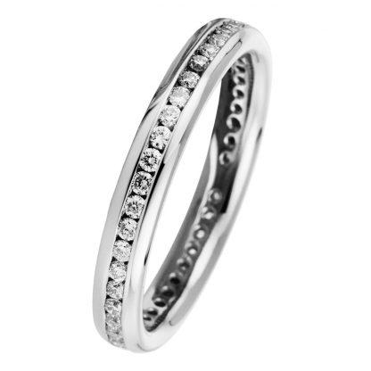 18 kt white gold eternity full with 48 diamonds 1B903W853-3