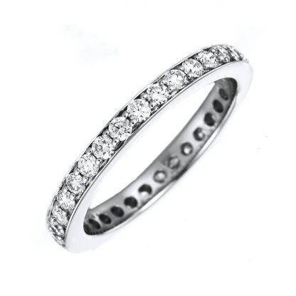18 kt white gold eternity full with 54 diamonds 1B892W854-1