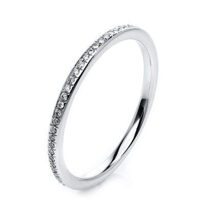 18 kt white gold eternity full with 63 diamonds 1G723W854-4