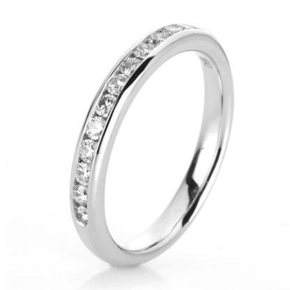 18 kt white gold eternity half with 13 diamonds 1C500W854-1