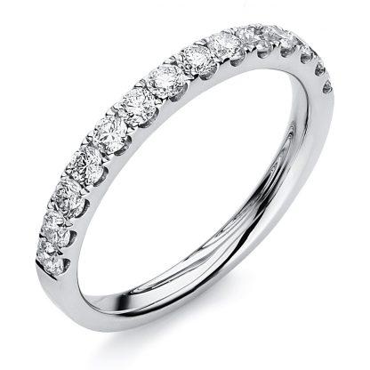 18 kt white gold eternity half with 14 diamonds 1B757W853-8