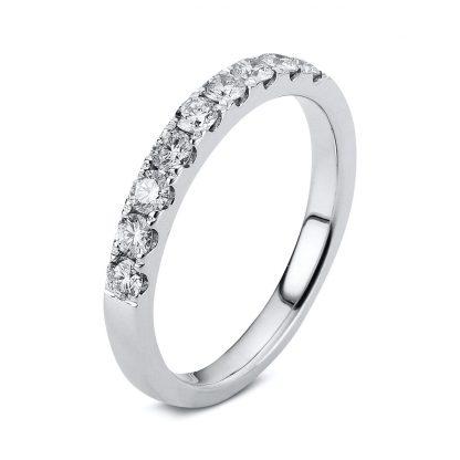 18 kt white gold eternity half with 9 diamonds 1B704W854-9