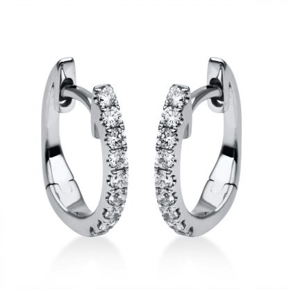 18 kt white gold hoops & huggies with 18 diamonds 2A391W8-14